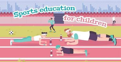 Parenting In Sports Flat Background vector