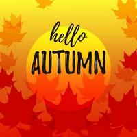 Autumn banner with maple leaves. Place for text. Vector illustration