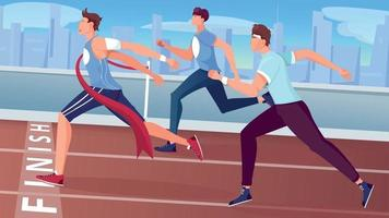 Running Trial Finish Composition vector