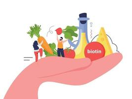 Vitamins In Products In Hand Concept vector