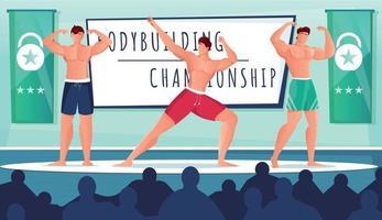 Bodybuilding Show Competition Composition vector
