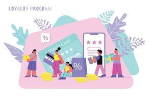 Loyalty Program Flat Illustration vector
