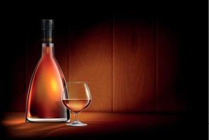 Glowing Cognac Realistic Composition vector