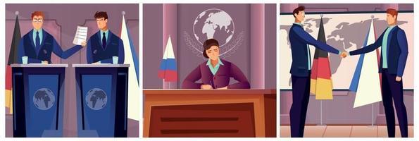Diplomacy And Politics Set vector