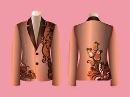Vector Decorative Blazer Design