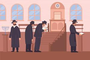 Judaism Religion Flat Composition vector