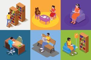 concepto de diseño de libros de lectura vector