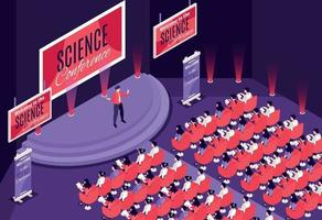 Isometric Conference Illustration vector