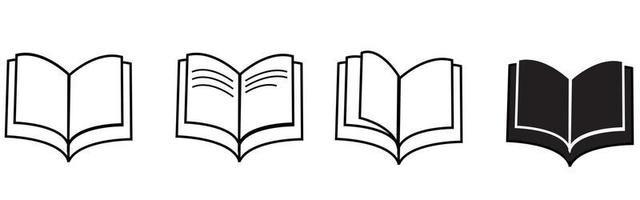 Books Icons. Vector
