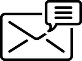 icono de línea para correo vector