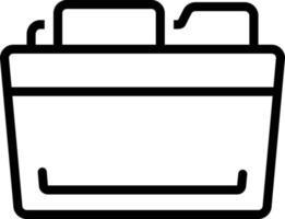 icono de línea para carpeta vector