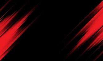 Abstract red light speed black background vector
