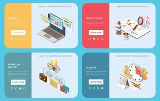 Project Management Banners Collection vector