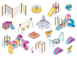 Playground Equipment Isometric Collection vector