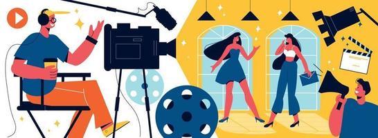 Cinema Shooting Horizontal Composition vector