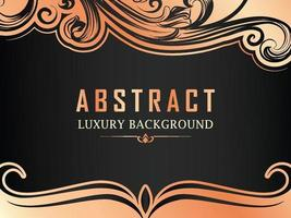 Abstract Luxury Rose Gold Ornamental background vector