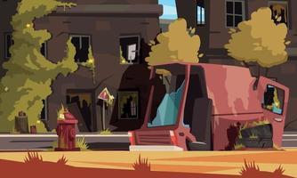 Post Apocalypse City Illustration vector