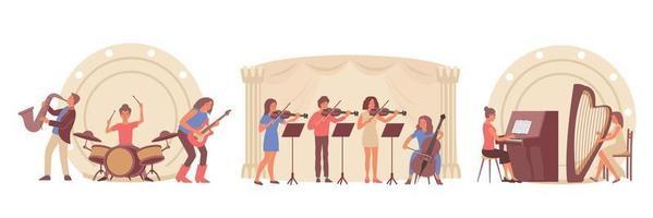 aprendizaje de composiciones musicales vector