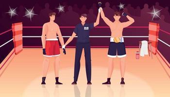 composición de juez ganador de boxeo vector