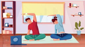 Training Fit Flat Composition vector