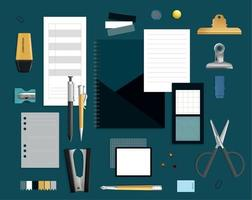 Office Items Realistic Set vector