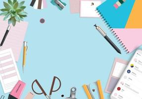 Office Items Background vector
