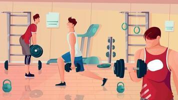 Gym Bodybuilding Flat Composition vector