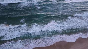Ocean waves top view video