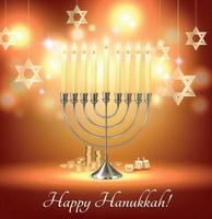 Hanukkah Realistic Background Composition vector