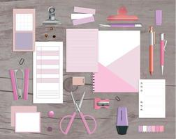 Realistic Office Items vector