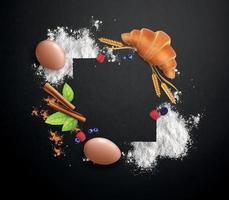 Bakery Realistic Frame vector