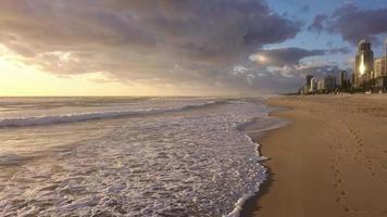 Sunrise at Australian beach video