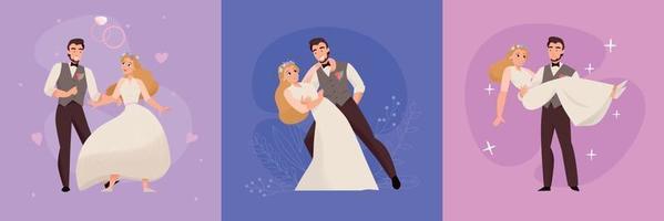 diseño de concepto de matrimonio de boda vector