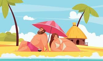 Couple on the beach vector