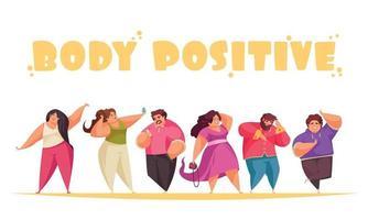 Body Positive Concept vector
