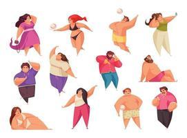Body Positive Icon Set vector