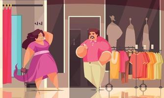 Body Positive Shopping Composition vector