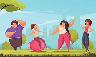 Body Positive Fitness Composition vector