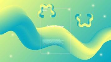 abstract blue yellow liquid background. Vector illustration. Eps 10