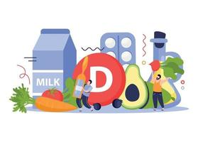 Vitamins In Products Concept Design vector
