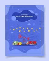 oil and gas industry business profit concept for template of banners vector