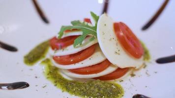 Closeup Of Caprese Salad video