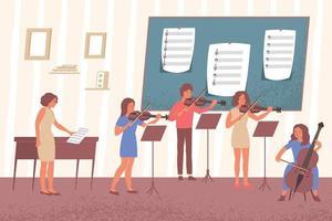 aprender la composición de notas musicales vector
