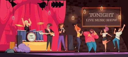 Live Music Show Illustration vector