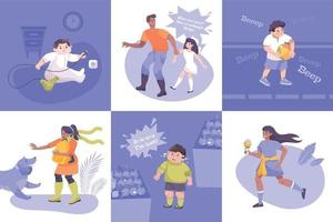 Child Safety Square Set vector