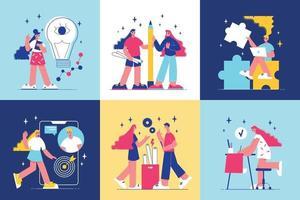 Brainstorm Design Concept vector