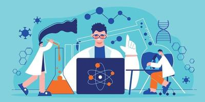 Science Laboratory Horizontal Poster vector
