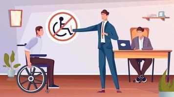 Discrimination Flat Illustration vector