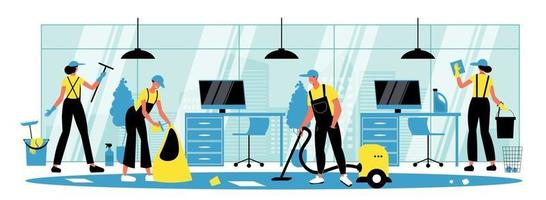 Cleaning Horizontal Illustration vector
