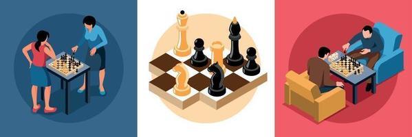 Chess Isometric Design Concept vector